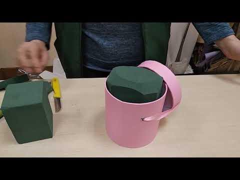 Как сделать живые цветы в коробке своими руками живые цветы