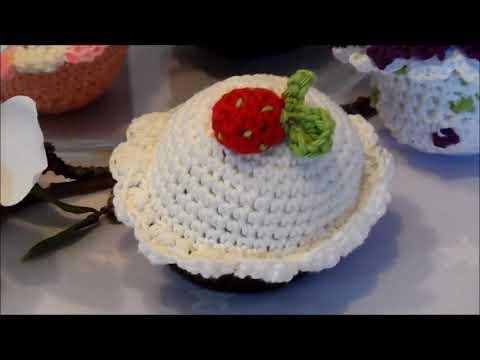Diy Keka Muffin Cupcaketörtchen Häkelnerdbeeren Häkelnselber