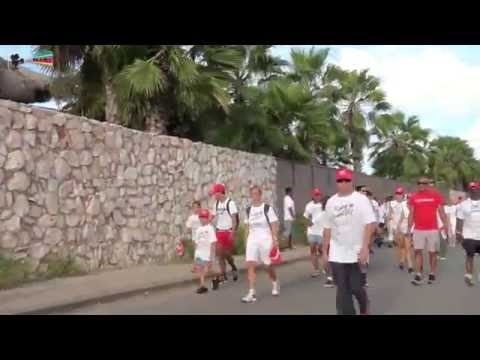 Ride Swim and Walk for the Roses 2015 Curacao by miv.tv curaçao