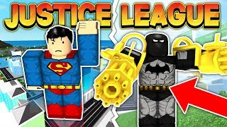 JUSTICE LEAGUE VS CRIMINALS (ROBLOX MAD CITY)