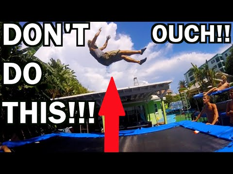 BEST TRAMPOLINE EVER!!! Learning To Double Backflip!