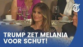Trump zet eigen vrouw voor schut