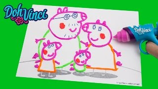 Peppa Pig Play-doh Dohvinci Art Studio Design Peppa Pig With Play Doh Vinci Dibujar Con Plastilina