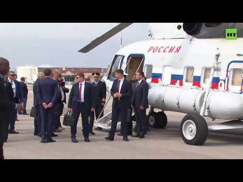 Прилёт Путина во