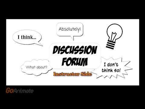 Ulogistics Discussion Forum (Instructor side) - 2014