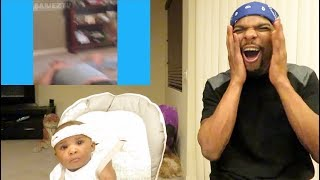 Baixar Try not to laugh challenge (Funniest Babies Vines) Reaction!! W/ My Baby!