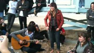 Blake and Sierra of VersaEmerge perform Mr Grinch at the Santa Monica Acoustic Dec 6th 2009