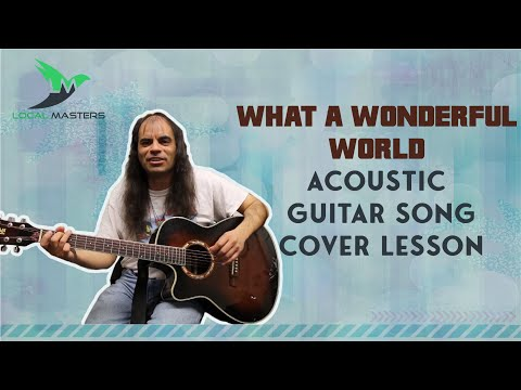 Sam Cooke - What A Wonderful World Acoustic Guitar Song Cover Lesson