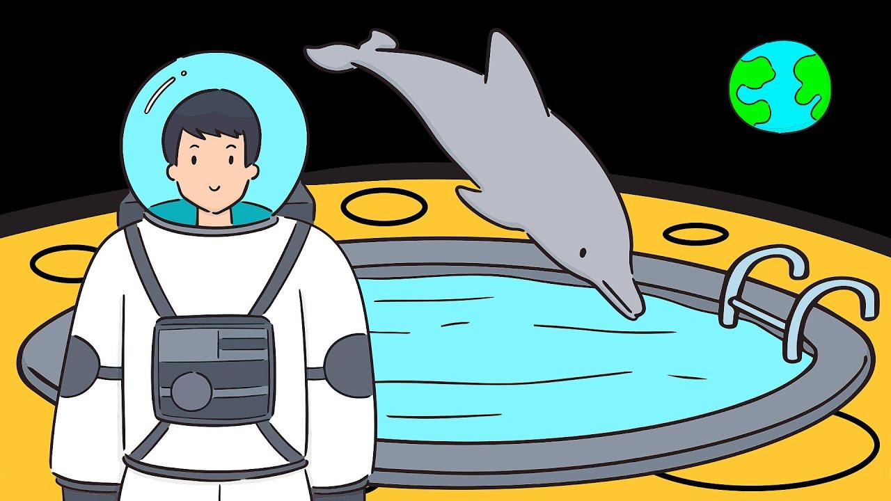 ماذا لو كنت قادرا على السباحة على سطح القمر