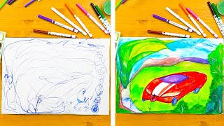 25 FUNNY WAYS DRAW WITH YOUR CHILDREN