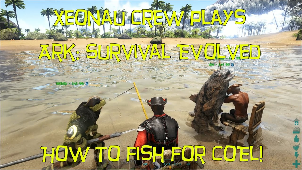 Ark survival evolved how to fish for coel ark fishing youtube malvernweather Image collections