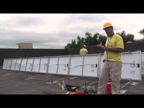 Solar Panels at Town Center - Green Initiatives by Miramar Public Works