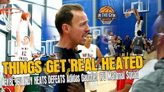 EYBL INDY HEATS 16U vs Adidas Gauntlet 17U Manimal Squad | THINGS GETS HEATED | LUKE GOODE 27PT