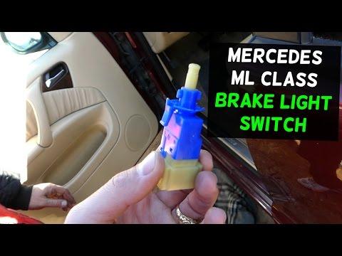 HOW TO REPLACE BRAKE LIGHT SWITCH ON MERCEDES W163 ML 320 ML430 ML350 ML500 ML230 ML270