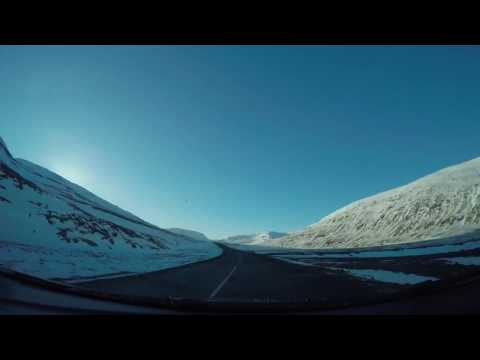 Iceland winter driving time lapse March 16