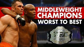 every-ufc-middleweight-champion-ranked-worst-to-best