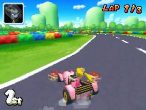 mario kart ds gba peach circuit youtube. Black Bedroom Furniture Sets. Home Design Ideas