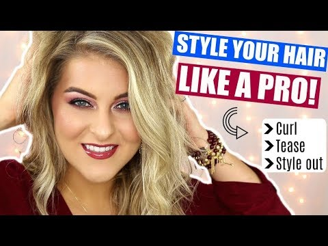 How To CURL + TEASE YOUR HAIR LIKE A PRO! // Tips & Tricks NO ONE TELLS YOU!