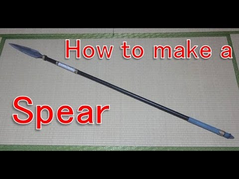 How to make a spear [Cosplay prop tutorial]