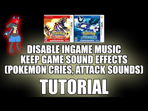 Pokemon ORAS How to: Mute music and keep battle sound effects