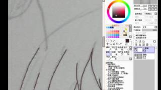 《洛子先生♥》洛子鼠繪描邊過程