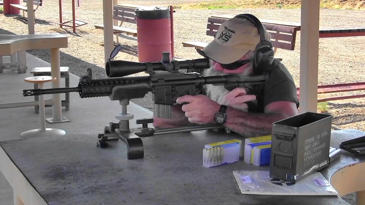 Shooting the TAR-15 Semi-Automatic 5.56mm Scout Rifle from The Arms ...