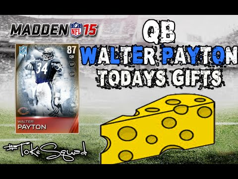 Madden 15 ultimate team qb walter payton toned down cheese youtube - Walter payton madden 15 ...