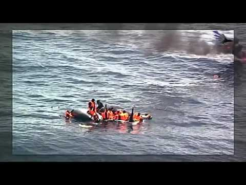 Portuguese Air Force rescues migrants from burning boat