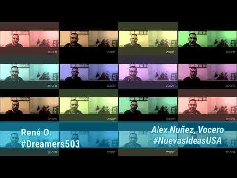 #Dreamers503 3° Programa 3°Temporada Entrevista Vocero #NuevasIdeasUSA Alex Nuñez