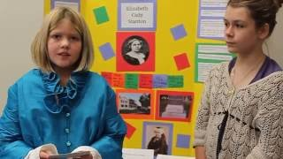 Susan B. Anthony & Elizabeth Cady Stanton by fifth graders