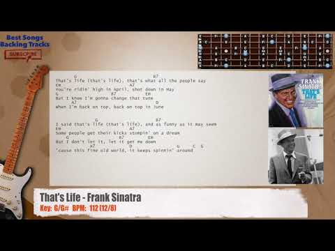 That\'s Life - Frank Sinatra Guitar Backing Track with chords and ...