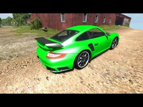BeamNG Drive Porsche 911 GT2 v4.1 Crash Testing #29