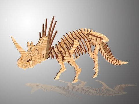 Chico Wooden 3d Styracosaurus Puzzle Craft Youtube QdCtshr