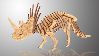 Chico Craft Styracosaurus Wooden 3d Puzzle