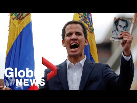 Venezuelan opposition leader Juan Guaido holds news conference
