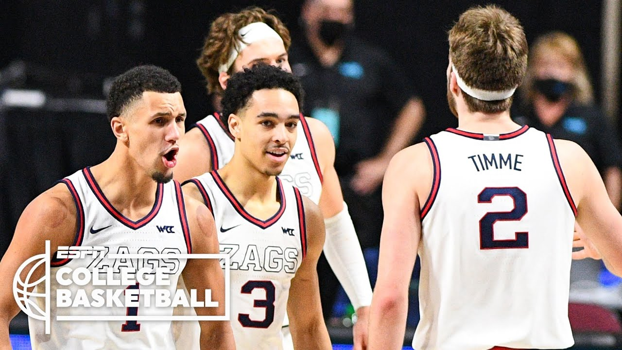 Two wins from forever: Gonzaga closing in on college basketball ...
