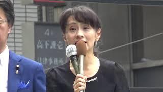 安倍昭恵夫人も反社会勢力と関与。公正・正直な総裁を-石破佳子(石破茂・妻)@銀座2018 09 17