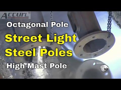 CNC Press Brake for Street Light Steel Poles for Sheet Bending Octagonal Pole High Mast Pole