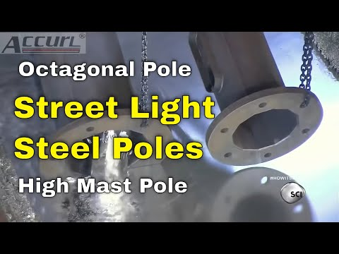 Metal Bending Machine >> CNC Press Brake for Street Light Steel Poles for Sheet ...