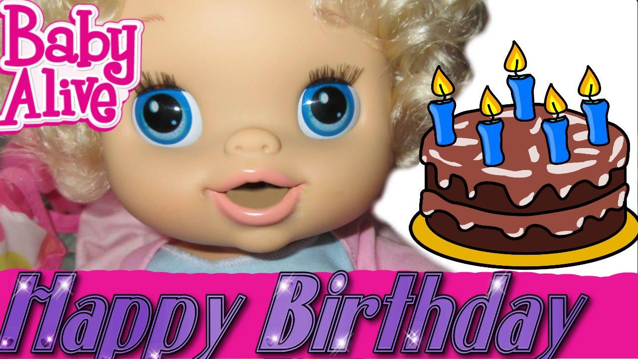 Baby Alive Emily S Birthday Tomorrow Sick Baby Alive