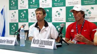 Davis Cup press conference with Nestor and Pospisil (Canada) after defeating Erlich and Ram (Israel)