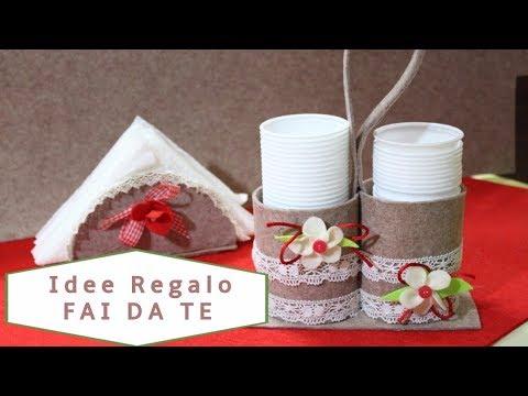 Regali Di Natale In Pannolenci.Idee Regali Di Natale Con Pannolenci Porta Bicchieri Natalizio