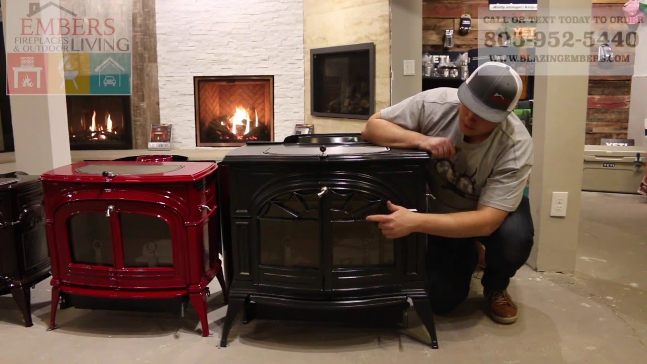 defiant large cast iron vermont castings wood stove youtube