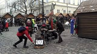 Прикольные музыканты во Львове