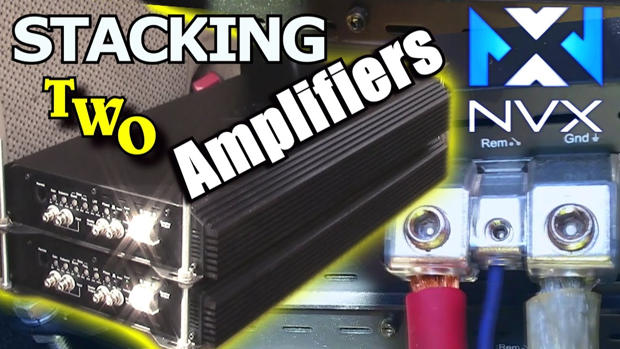 6000 watts wired up! stacking two nvx xpld3k bass amplifiers audio amplifier schematic stacking two nvx xpld3k bass amplifiers installing & wiring 2 amps under seat youtube