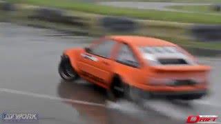 Driftworks DW86 Phil Morrison - Huge backwards drift entry in the wet