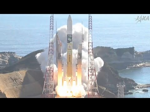 JAXA H-2A Launching GCOM-C And SLATS Satellites Into Low Earth Orbit From Tanegashima Space Center