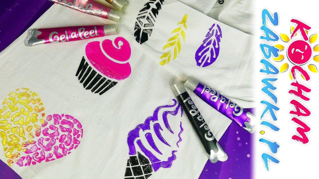 Gel a Peel • Zdobienie T-shirta • DIY • Zrób to sam • Kreatywne zabawy
