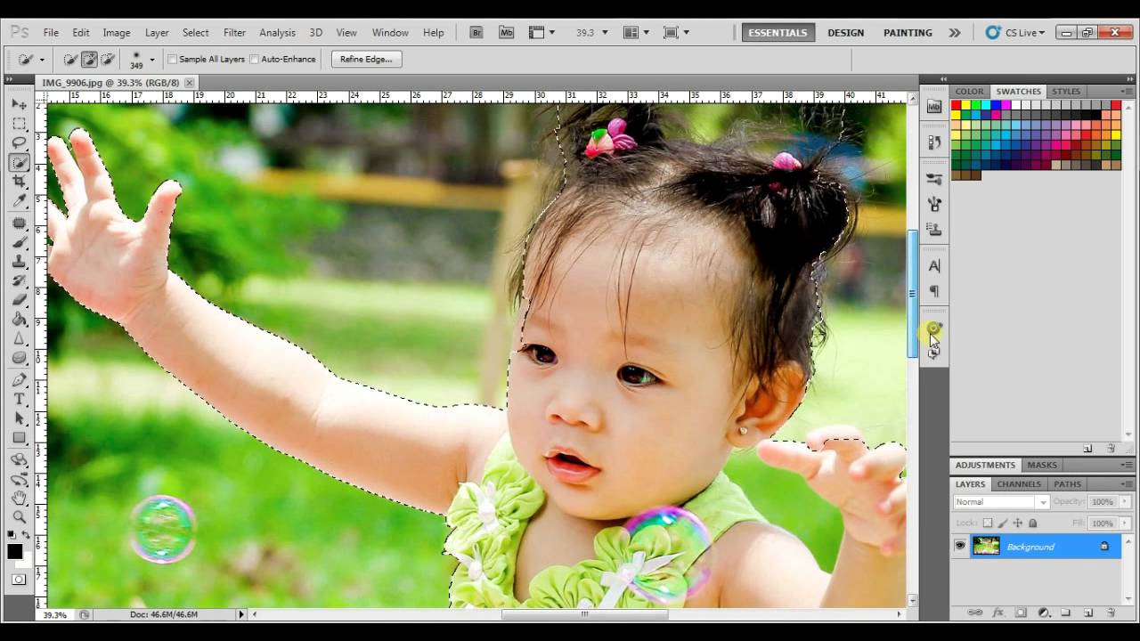 How to change background color in photoshop cs5