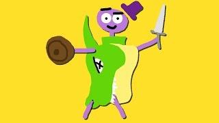 Zombey trägt einen Drachen als Rüstung.